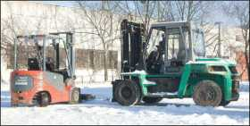 Preparing forklift for winter