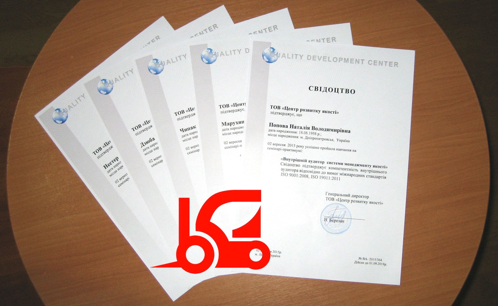 Introduce the quality management system according to ISO 9001:2008